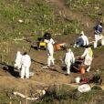 Exclusif - Les enquêteurs du NTSB (National Transportation Safety Board) continuent les investigations autour du lieu de l'accident d'hélicoptère qui a coûté la vie au basketteur Kobe Bryant et à sa fille à Calabasas. Le 3 février 2020