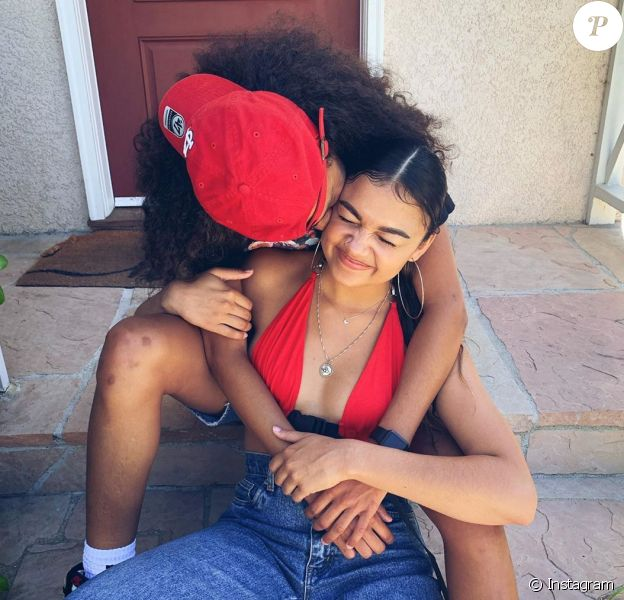 Madison Bailey (Outer Banks, Netflix) présente sa copine sur Instagram, le 17 juin 2020.