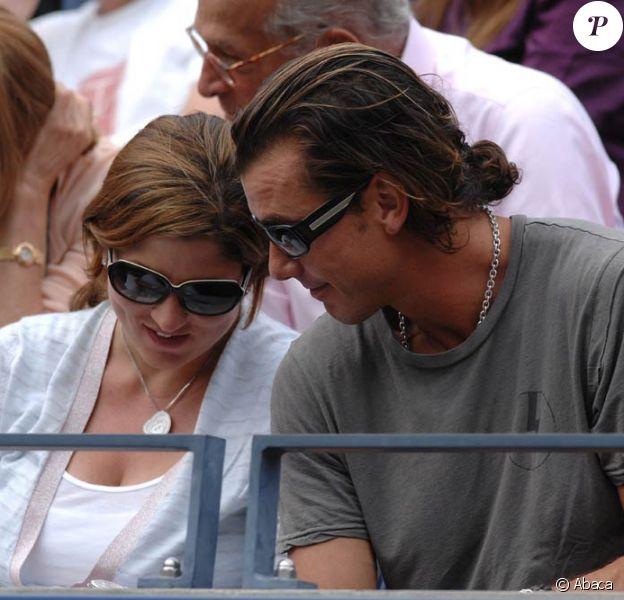 Mirka Vavrinec et Gavin Rossdale dans les gradins de l'US Open 2009, à New York