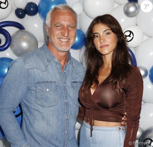 David Ginola et sa compagne Maeva Denat assistent au lancement de la première poussette électrique, ePRIAM de Cybex, le au White Space à Londres, Royaume Uni, le 18 juin 2019.
