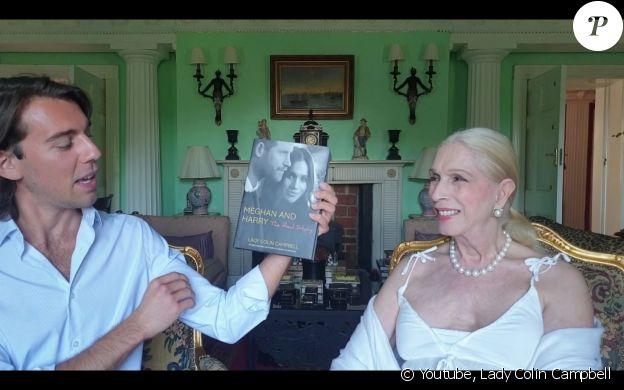 L'auteure britannique Lady Colin Campbell présente son nouvel ouvrage sur Meghan Markle et le prince Harry le 25 juin 2020 sur YouTube.