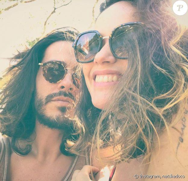 Florian Delavega et sa femme Natalia Doco sur Instagram, le 2 février 2020