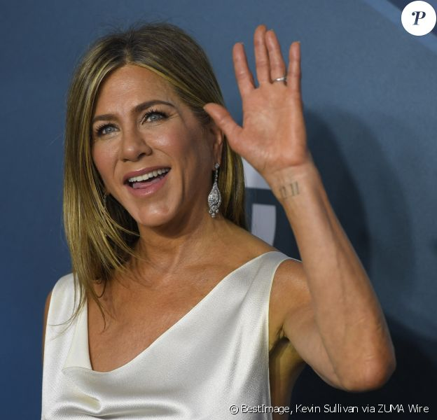 "Jennifer Aniston - Photocall - 26ème cérémonie annuelle des ""Screen Actors Guild Awards"" (""SAG Awards"") au ""Shrine Auditorium"" à Los Angeles, le 19 janvier 2020. © Kevin Sullivan via ZUMA Wire / Bestimage"