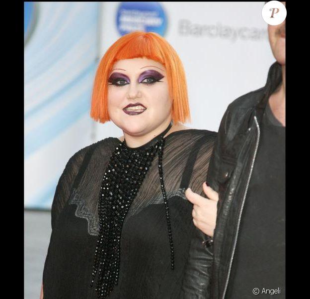 """Beth Ditto à Londres pour le prix """"BarclayCard Mercury"""", le 8 septembre 2009"""