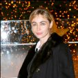 Emmanuelle Béart donne le coup d'envoi du Noël de rêve des Galeries Lafayette. Paris. Le 6 novembre 2006.