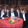 """Helmut Fritz, Adeline Blondieau, Patrick Sébastien, Richard Berry, Paul Belmondo dans """"Le Plus Grand Cabaret du monde"""" (8 septembre 2009)"""