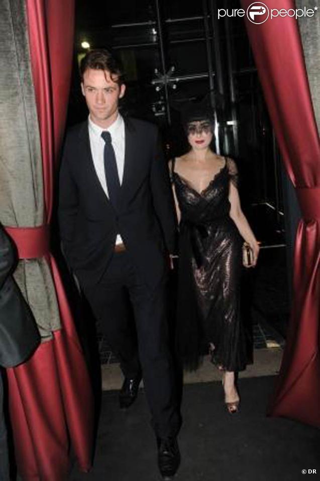 Louis-Marie de Castelbajac et Dita Von Teese, lors de la soirée organisée au Kube Hotel de Paris, le 9 septembre 2009 !