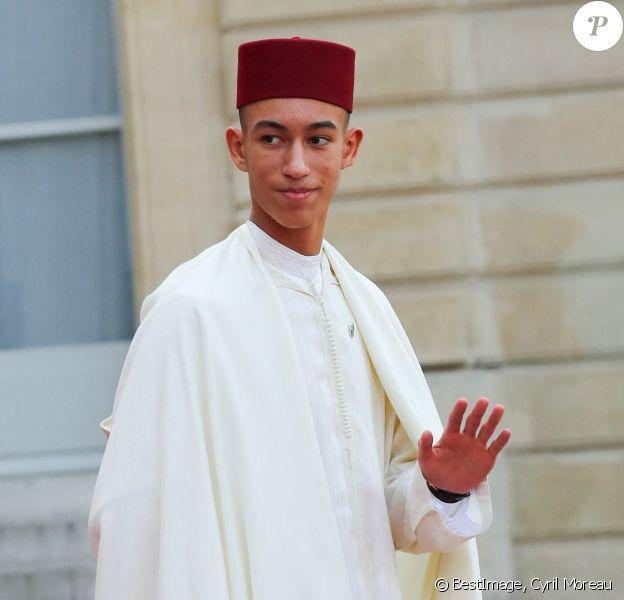 Le prince Moulay El Hassan du Maroc - Les chefs d'Etat et de Gouvernement étrangers ayant fait le déplacement en France pour rendre hommage au Président Jacques Chirac à la sortie du Palais de l'Elysée Paris, France, le 30 septembre 2019. © Cyril Moreau/Bestimage