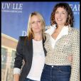 Robin Wright et la cinéste Rebecca Miller, lors du photocall de  The private lives of Pippa Lee , à l'occasion du 35e Festival du Film Américain de Deauville, le 10 septembre 2009 !