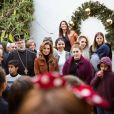 La reine Rania de Jordanie assiste aux festivités de Noël à Fuheis près d'Amman, le 18 décembre 2019.