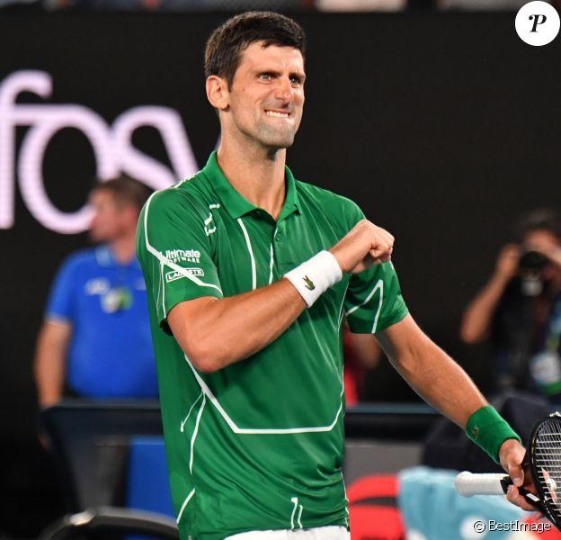 Novak Djokovic - Serbie lors de l'open d'Australie 2020 à Melbourne le 30 janvier 2020. © Chryslène Caillaud / Panoramic / Bestimage