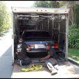 Les biens de Michael Jackson, contenus dans sa maison à Holmby Hills, sont transportés dans de gros camions pour être vendus aux enchères. 10/09/09