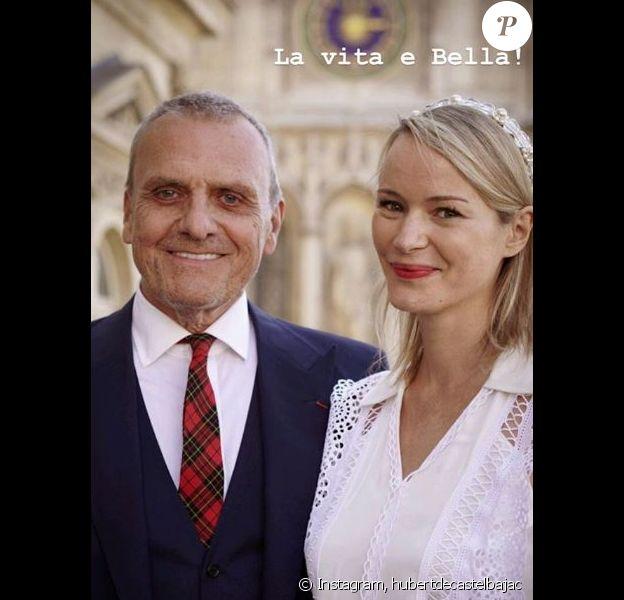Jean-Charles de Castelbajac s'est marié à Pauline de Drouas à Paris le 21 septembre 2019. La photo est signée son neveau Hubert de Castelbajac.