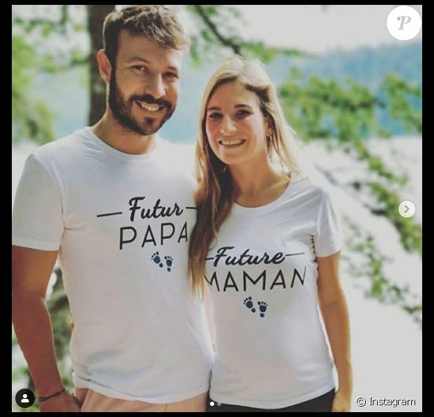 """Charline et Vivien (""""Mariés au premier regard"""", saison 3, diffusée en 2019) ont annoncé le 21 juillet 2020 qu'ils allaient avoir un enfant."""