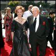 Ernest Borgnine et sa femme Tora, à l'occasion de la première partie de la cérémonie des Emmy Awards 2009, au Nokia Theatre de Los Angeles, le 12 septembre 2009 !