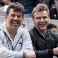 Jeanfi Janssens et Stephane Plaza - Célébrités dans les tribunes des internationaux de France de tennis de Roland Garros à Paris, France, le 7 juin 2019. © Cyril Moreau/Bestimage