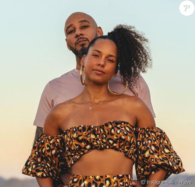 Alicia Keys et Swizz Beatz fêtent leurs 10 ans de mariage. Juillet 2020.