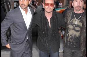 Colin Farrell, très complice avec les membres de U2, Bono et The Edge... a fait son numéro de charme !