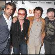 Colin Farrell, Bono, Neil Jordan et The Edge lors de la première du film Ondine lors du Festival de Toronto le 14 septembre 2009