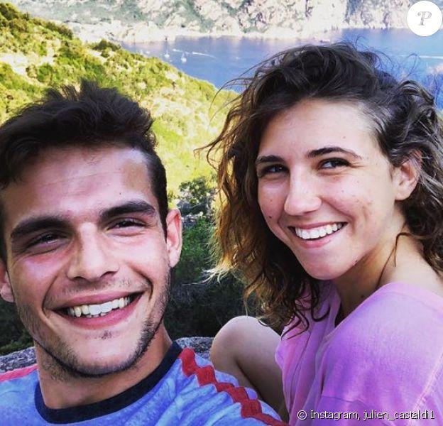 Julien Castaldi et Chiara amoureux, le 5 janvier 2020