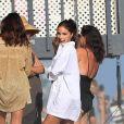 Olivia Culpo à l'anniversaire de sa meilleure amie C.Santana sur une plage à Malibu. Le 15 août 2020