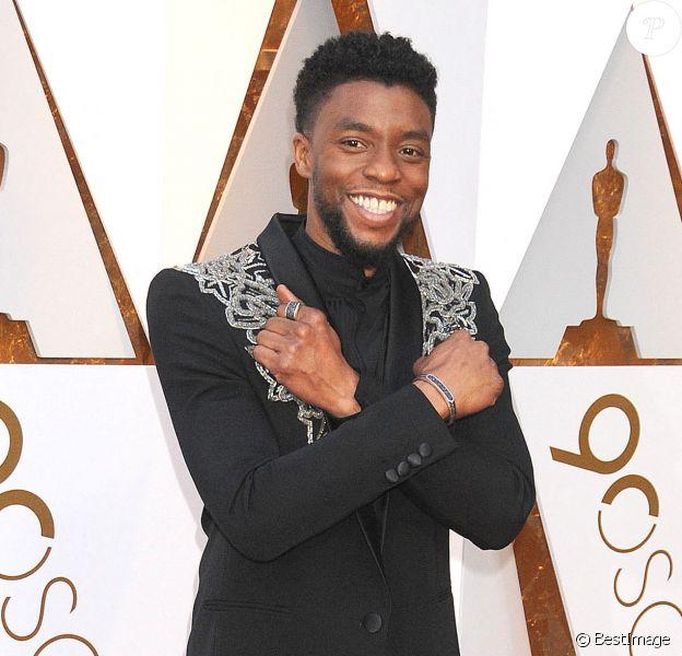 Chadwick Boseman - 90ème cérémonie des Oscars 2018 au théâtre Dolby à Los Angeles le 4 mars 2018.