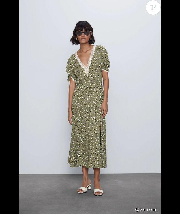 La robe Zara portée par Kate Middleton le 30 août 2020.