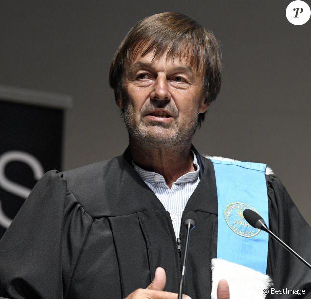 Cérémonie de remise des insignes de Docteur Honoris Causa à Nicolas Hulot lors de la rentrée académique de l'Université de Mons.