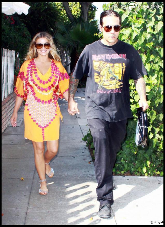 Carmen Electra et son fiancé