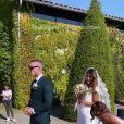Wafa filmée le jour de son mariage avec Oliver, le 5 septembre 2020, par sa soeur Rania.