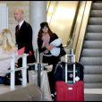 Eva Longoria arrive à Paris. 19/09/09