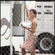 Eva Longoria sur le tournage de Desperate Housewives, à Hollywood. Septembre 2009