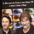 Jean-Hugues Anglade et Olivier Marchal à la clôture du Festival de la fiction TV de la Rochelle (20 septembre 2009)