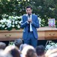 Le maire de Cannes, David Lisnard. Obsèques d'Annie Cordy sur la Butte Saint-Cassien à Cannes le 12 septembre 2020. Bruno Bebert / Bestimage