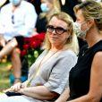 Michele Lebon la nièce de Annie Cordy. Obsèques d'Annie Cordy sur la Butte Saint-Cassien à Cannes le 12 septembre 2020. Bruno Bebert / Bestimage