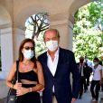 Christian Morin et sa femme. Obsèques d'Annie Cordy sur la Butte Saint-Cassien à Cannes le 12 septembre 2020. Bruno Bebert / Bestimage
