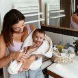 Rachel Legrain-Trapani et son fils Andrea sur Instagram, le 6 septembre 2020