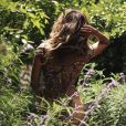 Halle Berry dans son jardin. Janvier 2020.