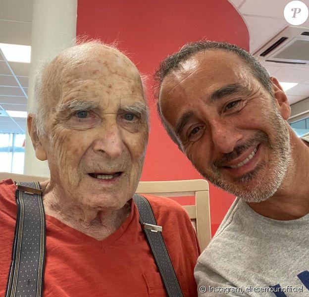 Elie Semoun et son père Paul sur Instagram, 2020.