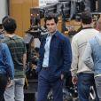 Exclusif - Penn Badgley sur le tournage de la saison You à Los Angeles, le 1er mars 2019