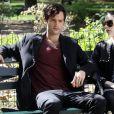 "Penn Badgley sur le tournage de ""Gossip Girl"", le 28 août 2012."