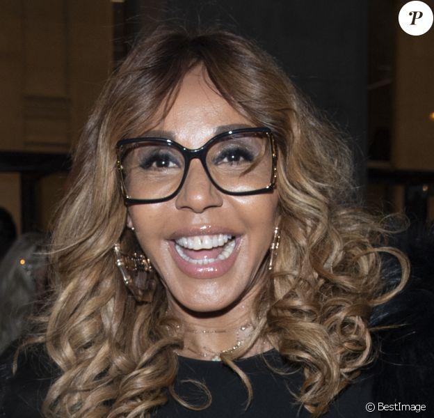 """Cathy Guetta - Les célébrités arrivent au défilé de mode Haute-Couture printemps-été 2020 """"Jean-Paul Gaultier"""" au théâtre du Châtelet à Paris."""
