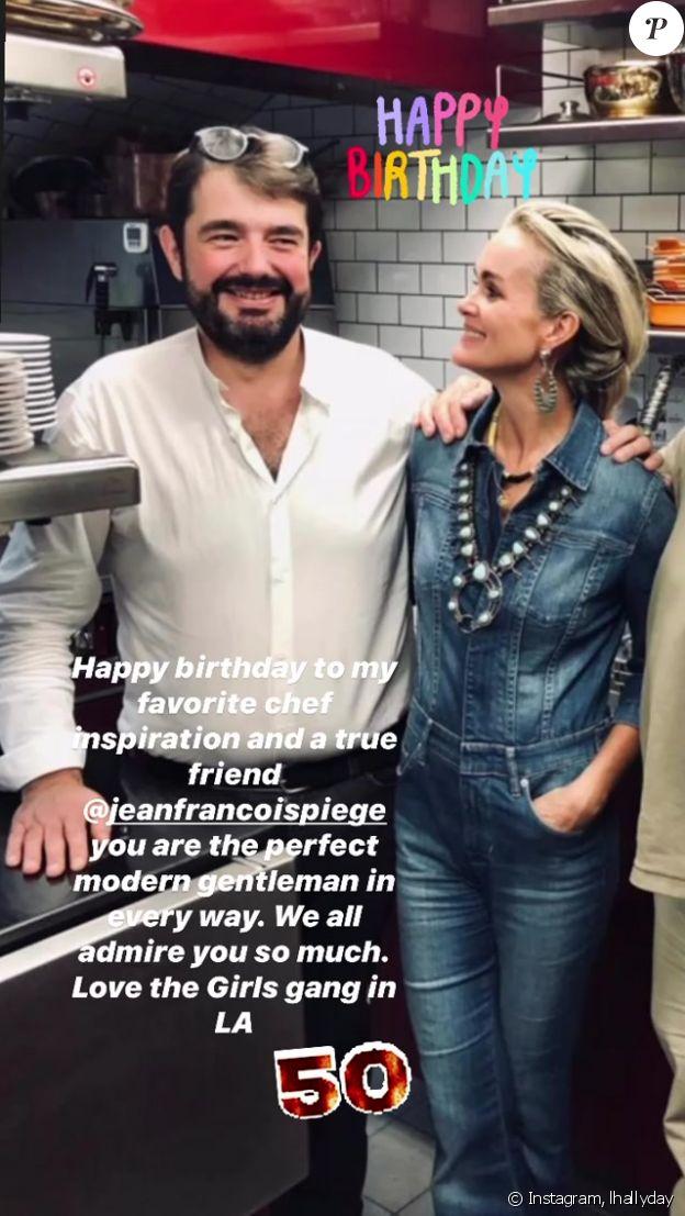 Laeticia Hallyday et son ami Jean-François Piège sur Instagram, le 25 septembre 2020.