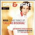 Mika en couverture de Gay&Night Magazine