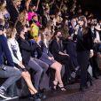 Exclusif - Alice David, Laurent Milchior, Joséphine Japy, Virginie Ledoyen, Clara Luciani - Frontrow lors du défilé Etam Live Show à Paris le 29 septembre 2020. © Pool Agence Bestimage