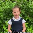 Princess Charlotte - David Attenborough répond aux questions de fans célèbres, dont le prince George, la princesse Charlotte et le prince Louis, au Royaume Uni, le 3 octobre 2020.