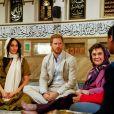 """Le prince Harry, duc de Sussex, et Meghan Markle, duchesse de Sussex, visitent la mosquée Auwa dans le quartier de Bo Kaap dit """"Cape Malay"""" au Cap, Afrique du Sud, le 24 septembre 2019."""