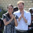 Le prince Harry et Meghan Markle visitent le township de Nyanga, Afrique du Sud le 23 septembre 2019.