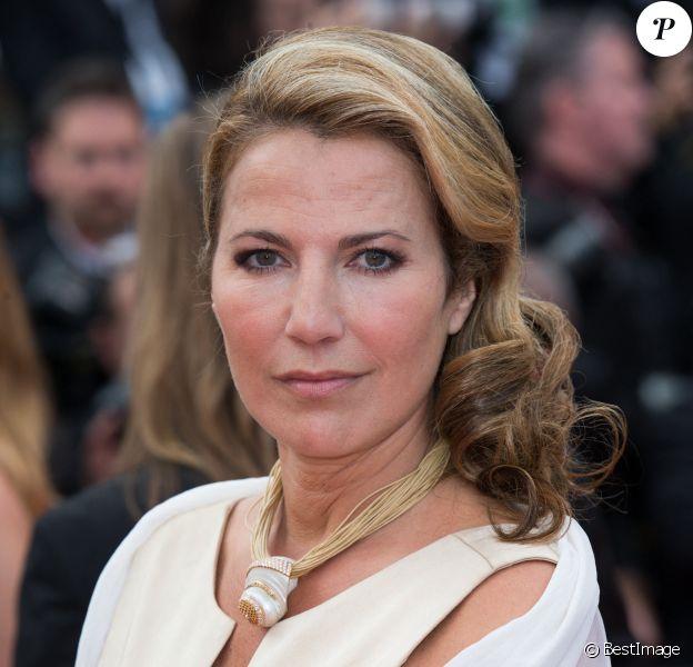 """Natacha Amal - Montée des marches du film """" Saint Laurent"""" lors du 67e Festival du film de Cannes."""