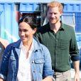 """Le prince Harry, duc de Sussex, et Meghan Markle, duchesse de Sussex rencontrent les membres de """"Waves for Change"""" au Cap lors de leur 2ème journée en Afrique du Sud."""